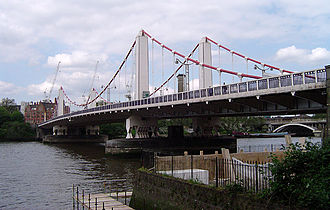 Chelsea, London - Chelsea Bridge from the south bank
