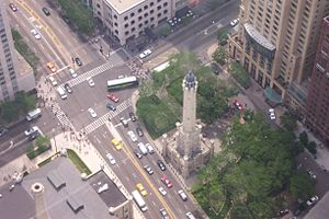 Chicago Water Tower from Hancock