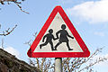 Children warning sign in Jersey.JPG