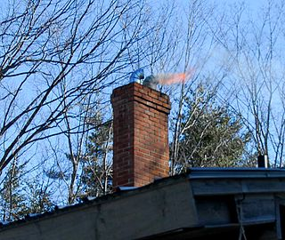 Chimney fire fire within a chimney