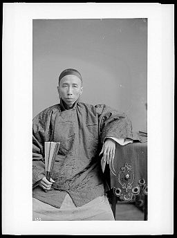 Chinese doctor with long finger nails, ca.1895-1920 (CHS-135)