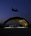 Chinook and Harrier at Kandahar Airfield MOD 45150465.jpg