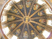 The Virgin and child, painted dome of the parecclesion of Chora Church.