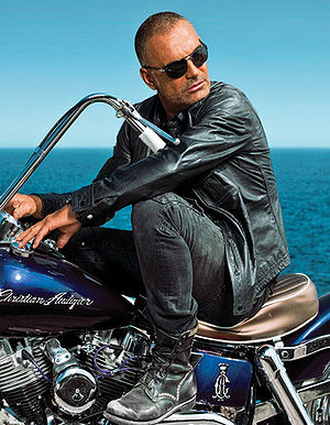 Christian Audigier - Audigier on a motorcycle in 2010