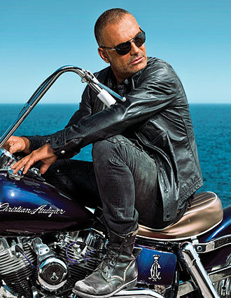Christian Audigier - Audigier on a motorcycle in 2010