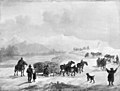 Christian David Gebauer - Slædefart i de bajerske bjerge - KMS817 - Statens Museum for Kunst.jpg