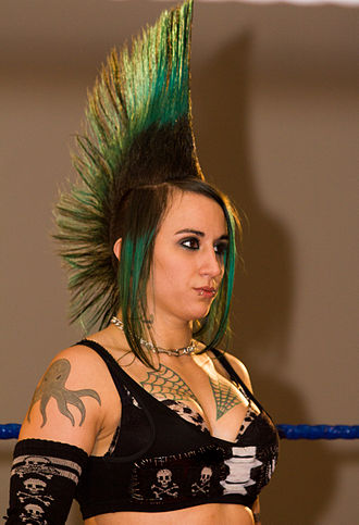 Christina Von Eerie - Von Eerie at an NCW Femmes Fatales show in October 2013