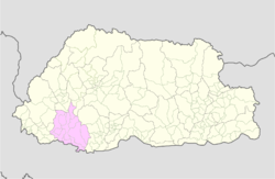 Map of Chukha District in Bhutan