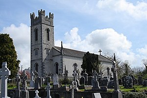Durrow, County Offaly - Durrow Catholic church and graveyard