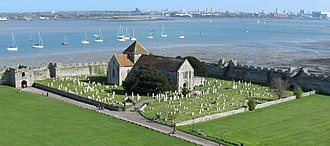 Southwick Priory - Image: Church within Portchester Castle