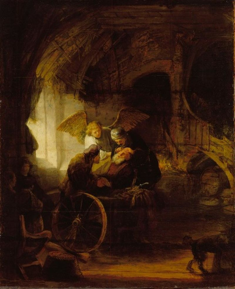 Circle of Rembrandt - Tobit and Angel Healing Blindness.jpg