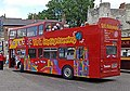 City Sightseeing bus, Bootham Bar, York, 19 May 2011.jpg