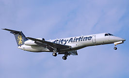 Een embraer 145 van City Airline