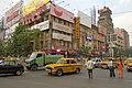 City square in central Kolkata, cars, India.jpg