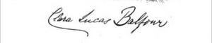 Clara Lucas Balfour - Image: Clara Lucas Balfour signature