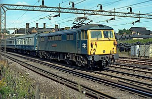 Class 87 87030 Black Douglas, Kentonm, 15 September 1979.jpg