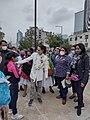 Claudia Sheinbaum y Laura Ita con indígenas de la Ciudad de México.jpg