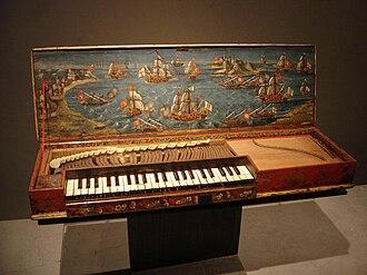 """Clavichord - The """"Lépante"""" fretted clavichord, Musée de la Musique, Paris"""