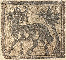 Fragment of a Floor Mosaic: Ibex near a Tree (1969.114)