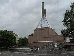 Percy Thomas Partnership - Clifton Cathedral, Bristol. Designed by Percy Thomas Partnership. Built 1970–73.