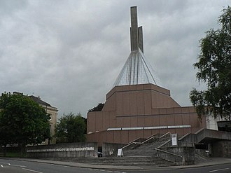 Percy Thomas Partnership - Clifton Cathedral, Bristol. Designed by Percy Thomas Partnership. Built 1970–73.
