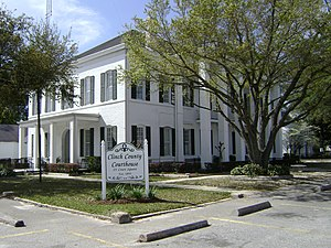National Register of Historic Places listings in Clinch County, Georgia - Image: Clinch Co Courthouse