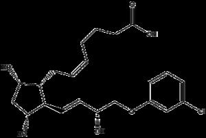 Cloprostenol - Image: Cloprostenol structure