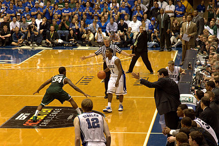 A Duke basketball game at Cameron Indoor Stadium Coachkfls.jpg