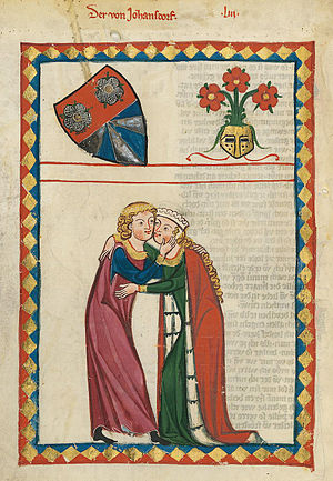 Albrecht von Johansdorf - Depiction of Albrecht von Johansdorf in the Codex Manesse