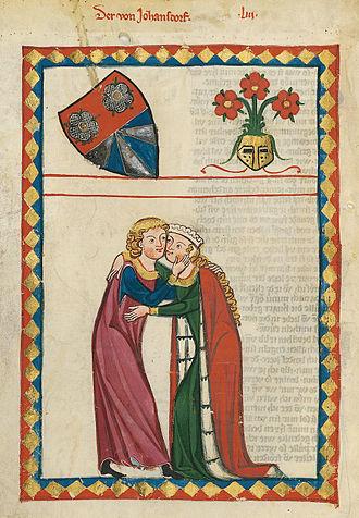 Albrecht von Johansdorf - Depiction of Albrecht von Johansdorf in the Codex Manesse