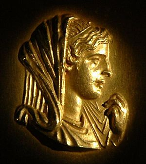Olympias - Roman medallion with Olympias, Museum of Thessaloniki