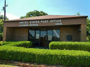 Coleman, Georgia - Image: Coleman, GA Post Office (39836)