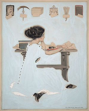 Life (magazine) - Cover art for Life, 27 January 1910 issue, illustration by Coles Phillips