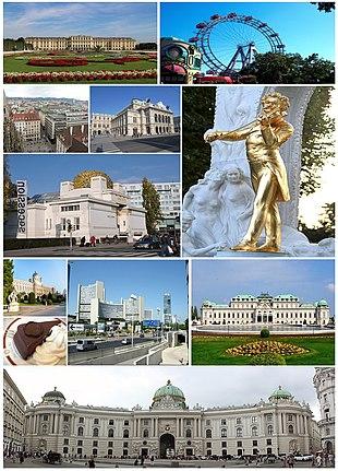 Collage von Wien