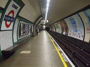 Colliers Wood tube station - Image: Colliers Wood stn northbound look south