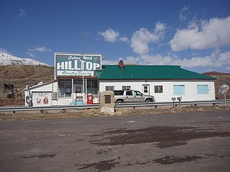 Colton, Utah - Hilltop Country Store, one of the last remnants of Colton, April 2009