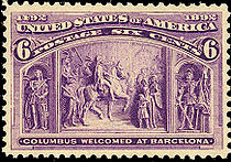 Columbus Welcomed at Barcelona, 6¢