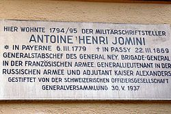 Commemoration Jomini Aarau