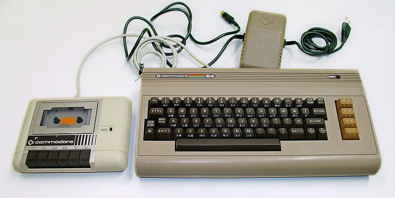 File:Commodore 64 with the external power supply and Commodore 1530 (C2N) Datasette.jpg