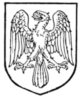 Fig. 452.—Eagle displayed with wings inverted.