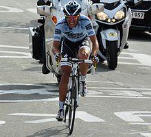 Contador durante la scalata dell'Alpe d'Huez al Tour de France 2011