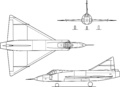 Convair YF-102 Delta Dagger 3-view.png
