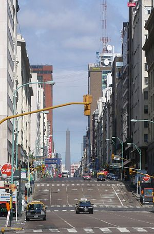 "Avenida Corrientes - Corrientes Avenue viewed from ""el bajo"""
