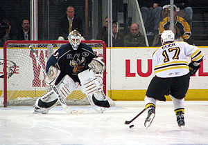 Cory Schneider - Schneider with the Manitoba Moose in a shootout against Jeremy Reich in 2009