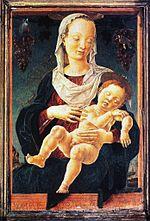 Madonna dello Zodiaco, dove risultano ancora in parte visibili i segni dell'Acquario e dei Pesci.[10]