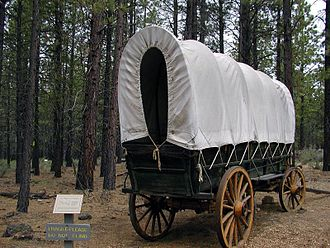 Covered wagon - A covered wagon replica at the High Desert Museum in Bend, Oregon
