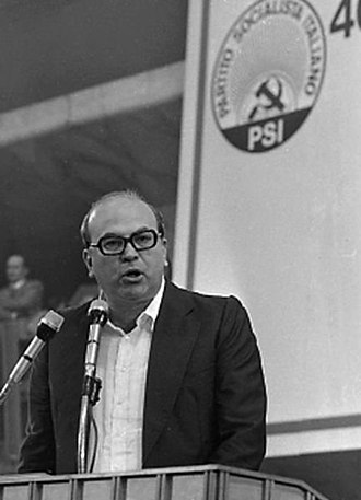 Bettino Craxi - Craxi after the election as PSI Secretary in 1976.