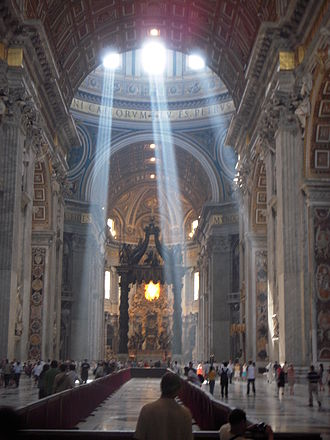 St. Peter's Basilica - Crepuscular rays are seen in St. Peter's Basilica at certain times each day.