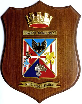 "1st Carabinieri Regiment ""Piemonte"" - Coat of arms"