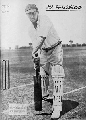 Argentina national cricket team - J.H. Paul, captain of the national team in 1925.